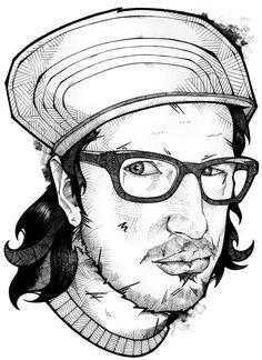 More drawings... by Andreas Preis, via Behance