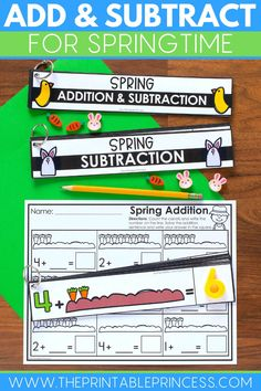 This no-prep resource provides students with fun spring-themed activities to strengthen and build their addition and subtraction skills. Great for morning tubs, early finishers, or math centers, in-person or even adaptable for remote learners!