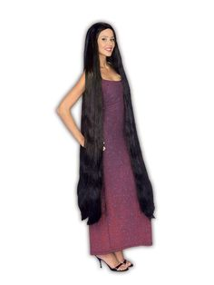 Check out Extra Long Black Adult Wig - Costume Accessories for 2018 | Wholesale Halloween Costumes from Wholesale Halloween Costumes