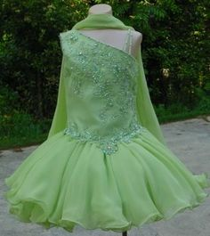 lime green flower girl dresses | Lime Green Pageant dresses for little girls, little girls pageant ...