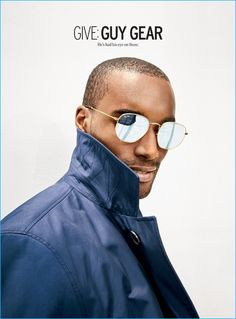 Corey Baptiste is a cool vision in Ray-Ban aviator sunglasses with a BOSS Hugo Boss rain coat. Round Sunglasses, Mirrored Sunglasses, Man Sunglasses, Yellow Raincoat, Mens Glasses, Classic Man, Fashion Images, Christmas Shopping, Well Dressed