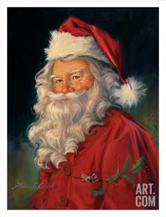 Santa Art Print by Susan Comish at Art.com