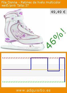 Fila Donna - Patines de hielo multicolor weiß/pink Talla:37 (Deportes). Baja 46%! Precio actual 49,49 €, el precio anterior fue de 91,75 €. http://www.adquisitio.es/fila/donna-patines-hielo-10