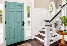 This Entryway Looks Fresh And Inviting With Its Neutral