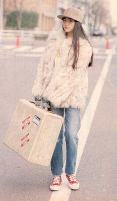 School Fashion, 80s Fashion, Cute Fashion, Asian Fashion, Fashion Photo, Vintage Fashion, Fashion Outfits, Womens Fashion, Harajuku Mode