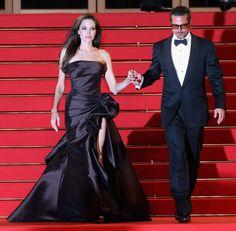 Angelina Jolie - event 2011 - Cannes Film Festival -The Tree Of Life Prem Brad Pitt And Angelina Jolie, Jolie Pitt, Fashion Couple, Elegant Dresses, Glamorous Dresses, Celebs, Celebrities, Cannes Film Festival, Celebrity Couples