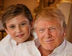 Donald & Barron Trump. Bless them Lord, help him lead this ungrateful nation of sinners. Forgive and heal our nation.amen