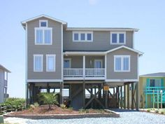 Holden Beach, NC - Barefootin' 751 a 5 Bedroom Oceanfront Rental House in Holden Beach, part of the Brunswick Beaches of North Carolina. Includes Elevator, Private Pool, Hot Tub, Hi-Speed Internet