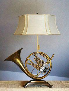 Superb Waldhorn Es Horn Tischlampe