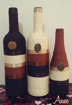 garrafas decoradas - Pesquisa Google | edjabarros | Pinterest | Decorated Bottles, Bottle and Google