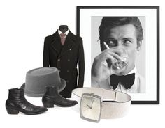 """""""A 70s Bond"""" by gryphonsnest ❤ liked on Polyvore featuring Sonic Editions, Circle of Gentlemen, kangol, Patek Philippe, vintage, jamesbond, vintagejewelry and VintageMensFashion"""