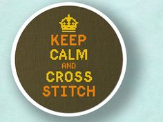 Keep Calm and Cross Stitch Cross Stitch Pattern PDF by andwabisabi, $5.00
