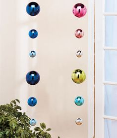Colorful Gazing Ball Mobile NOW  $4.95   each for outside in the trees