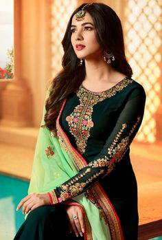 Looking for salwar kameez for women? Indian Suits & Salwar Kameez Online - Buy Anarkali Suits, Salwar Suits, Churidar Suits, Pants Suits and Palazzo Suits Online. Punjabi Salwar Suits, Patiala Salwar, Pakistani Dresses, Indian Dresses, Pakistani Suits, Lehenga Style, Lehenga Choli, Anarkali, Bridal Lehenga
