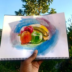 """I call it the """"Virgin Fruit""""🌝 Fruit, Painting, Painting Art, Paintings, Painted Canvas, Drawings"""