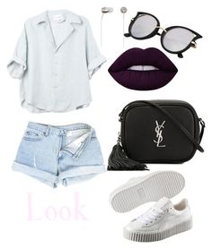 """""""Look like rock"""" by llizl on Polyvore featuring мода, Yves Saint Laurent, Kate Spade, Lime Crime и Puma"""