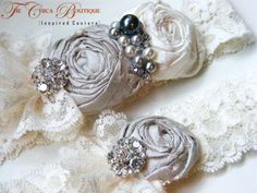 bridal garters | The Chica Boutique: Custom Bridal Garter Sets for Your Vintage Wedding