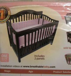Mesh #CribLiner Breathable #Baby Safer Than A Bumper Pink  #BreathableBaby