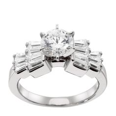 14K White Gold 1.75 cts Pear Cut Lab Created Engagement Ring $1489
