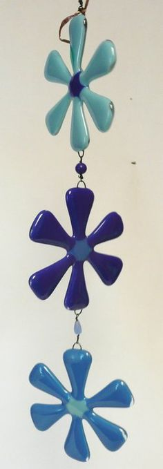 Fused Glass Flower Wind Chime