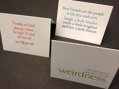 The Best Friend Collection Quote Notecards by Evolutionare