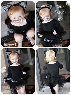 little black cat tutu costume halloween-boooooo