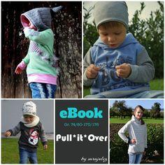 Bei dem Pullover Pull*it*Over handelt es sich um ein sehr vielseitiges Ebook für einen Pullover mit etlichen Variationsmöglichkeiten.  Ob mit Kapuze, ohne Kapuze, mit Zipfelkapuze, normaler Kapuze,...