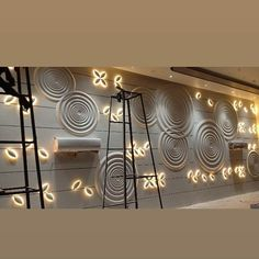 Mdf with backlight Wall Cladding Interior, Door Design Interior, Interior Concept, Interior Walls, Jalli Design, Foyer Design, Lobby Design, Pop Ceiling Design, Drawing Room Interior