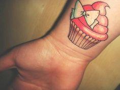 Cutesy cupcake tattoo