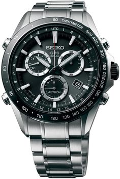 Seiko Astron Watch GPS Solar Chronograph Bracelet #bezel-fixed #bracelet-strap-steel #brand-seiko #case-depth-13-3mm #case-material-steel #case-width-44-6mm #chronograph-yes #date-yes #delivery-timescale-7-10-days #dial-colour-black #gender-mens #gmt-yes #luxury #movement-solar-powered #official-stockist-for-seiko-astron-watches #packaging-seiko-astron-watch-packaging #perpetual-calendar-yes #style-sports #subcat-astron #supplier-model-no-sse011…