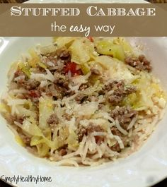 The easy way to make stuffed cabbage.