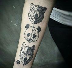 #Tattoo #Wolf #Bär #Panda #Tiere ❤️