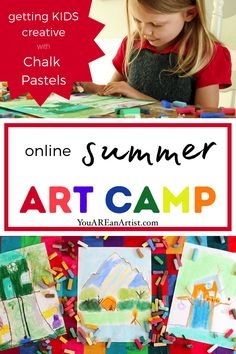 Looking for a summer art camp for your kiddo? This online summer art camp is chocked full of artful activities yo can enjoy from the comfort of your home! Homeschool Curriculum Reviews, Art Curriculum, History Education, Art History, Picnic Theme, Art Camp, Chalk Pastels, Hands On Activities