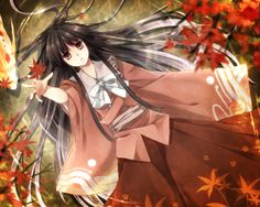Kaguya, anime, black hair, girl, houraisan kaguya, long hair, reaching ...