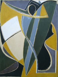 'Study for La Danseuse Africaine II' Oil on paper laid down on canvas: 65 x 49 cm by Othello Radou (1910 - 2006)