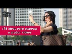 196 ideas para empezar a grabar vídeos.  #videos #videomarketing #socialmedia #hashtags