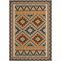 Safavieh Veranda Piled Indoor/ Outdoor Green/ Terracotta Rug (4' x 5'7) | Overstock™ Shopping - Great Deals on Safavieh 3x5 - 4x6 Rugs