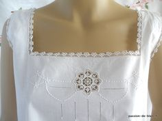 White Embroidery, Vintage Embroidery, Drawn Thread, Cut Work, Needful Things, Clothes For Women, Ladies Clothes, Pajamas, Lingerie