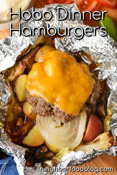 Tin Foil Dinners, Hobo Dinners, Foil Packet Dinners, Foil Pack Meals, Oven Foil Packets, Dinners On The Grill, Grill Meals, Grilled Foil Packets, Veggie Foil Packets For The Oven
