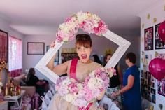 Love this Bride-to-Be's enthusiasm! A Glittering Pink High Tea Shower |Ultimate Bridesmaid | Ducky Jessica Photography