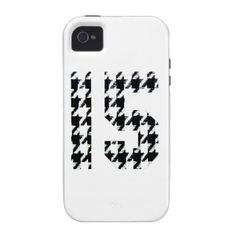 Fantastic Fifteen Houndstooth Print Case-Mate iPhone 4 Case