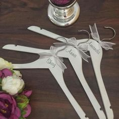 Personalised Wedding Hangers Affordable Bridesmaid Gift Idea For Bridal
