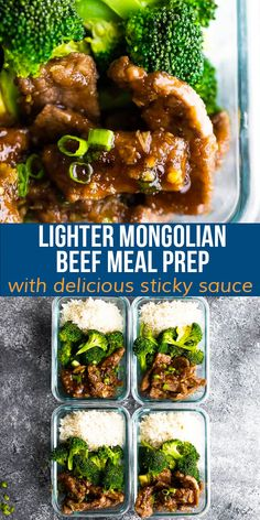 These Mongolian beef meal prep bowls are perfect if you are craving take out, but want to keep things healthier. With tender strips of flank steak served in a deliciously sticky sauce.