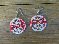 Pretty cloth earrings light weight funky and by LostCreekLaser