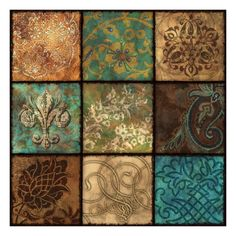 Shop for Studio Voltaire 'Venetian Patchwork II' Gallery-wrapped Canvas Art. Get free delivery On EVERYTHING* Overstock - Your Online Art Gallery Store! Decoupage Vintage, Decoupage Paper, Motif Oriental, Damask Decor, Art Chinois, Art Japonais, Wow Art, Mixed Media Canvas, Tile Art