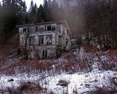 unreal. imagine walking through the woods and coming across this house just sittin there. do you go in?