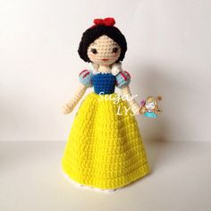 Crochet Amigurumi Snow White - Disney Princess ༺✿ƬⱤღ https://www.pinterest.com/teretegui/✿༻