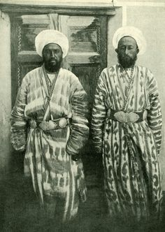These two men were Olufsen's bodyguards during his travels in Bukhara, c. 1890s