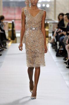 Beige Organza Dress