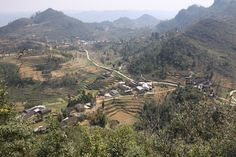 View From Lung Cu Flag, Ha Giang Vietnam